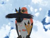 Talonflame Pins a Raven (Below)
