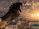 Godzilla on the Town (Dusk)